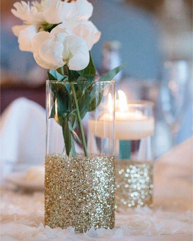 centro de mesa com flores naturais