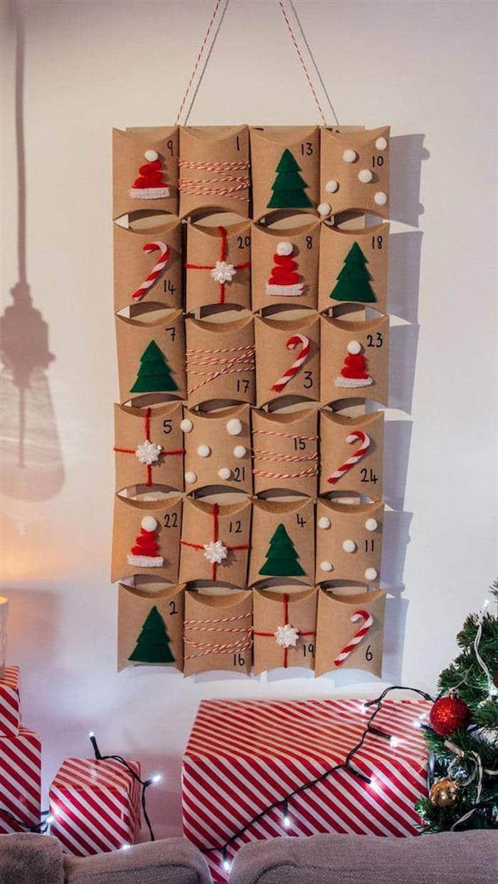artesanato de natal com rolinho de papel