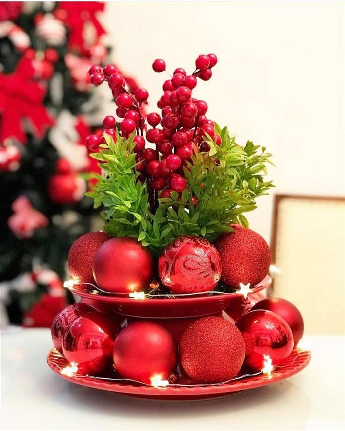 artesanato natal com bolinhas natalinas