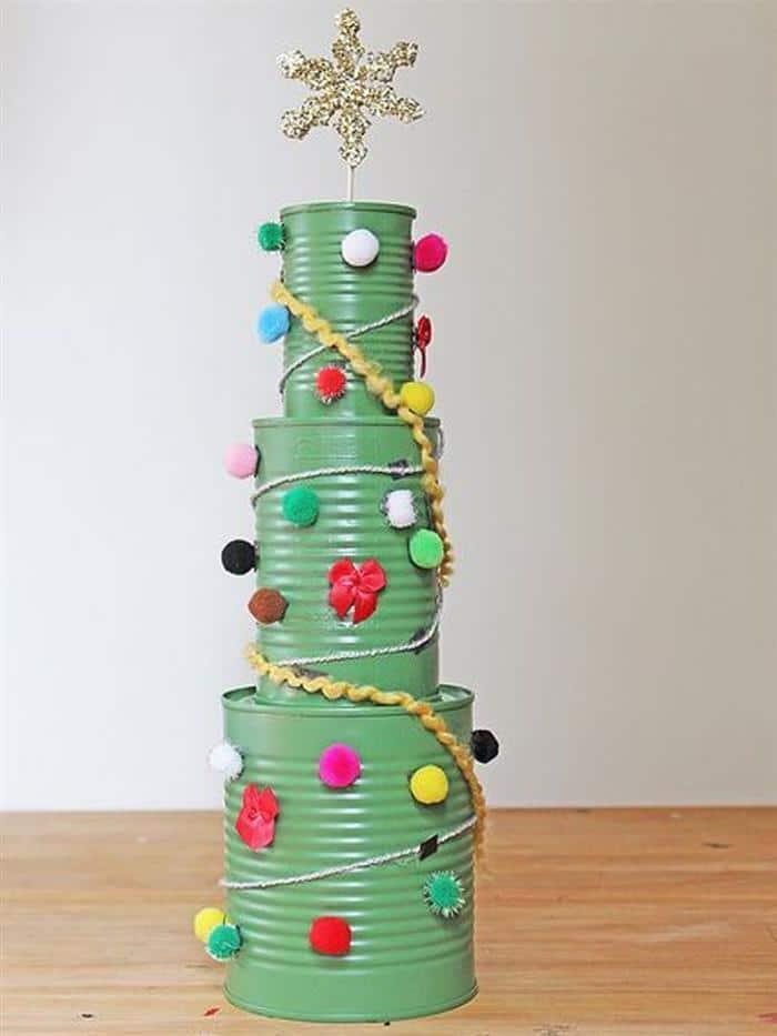 artesanato natal com latas