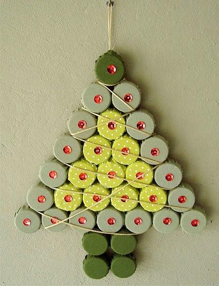 mini arvore de natal para porta