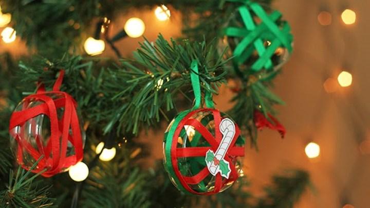 Enfeite de Natal com material reciclado