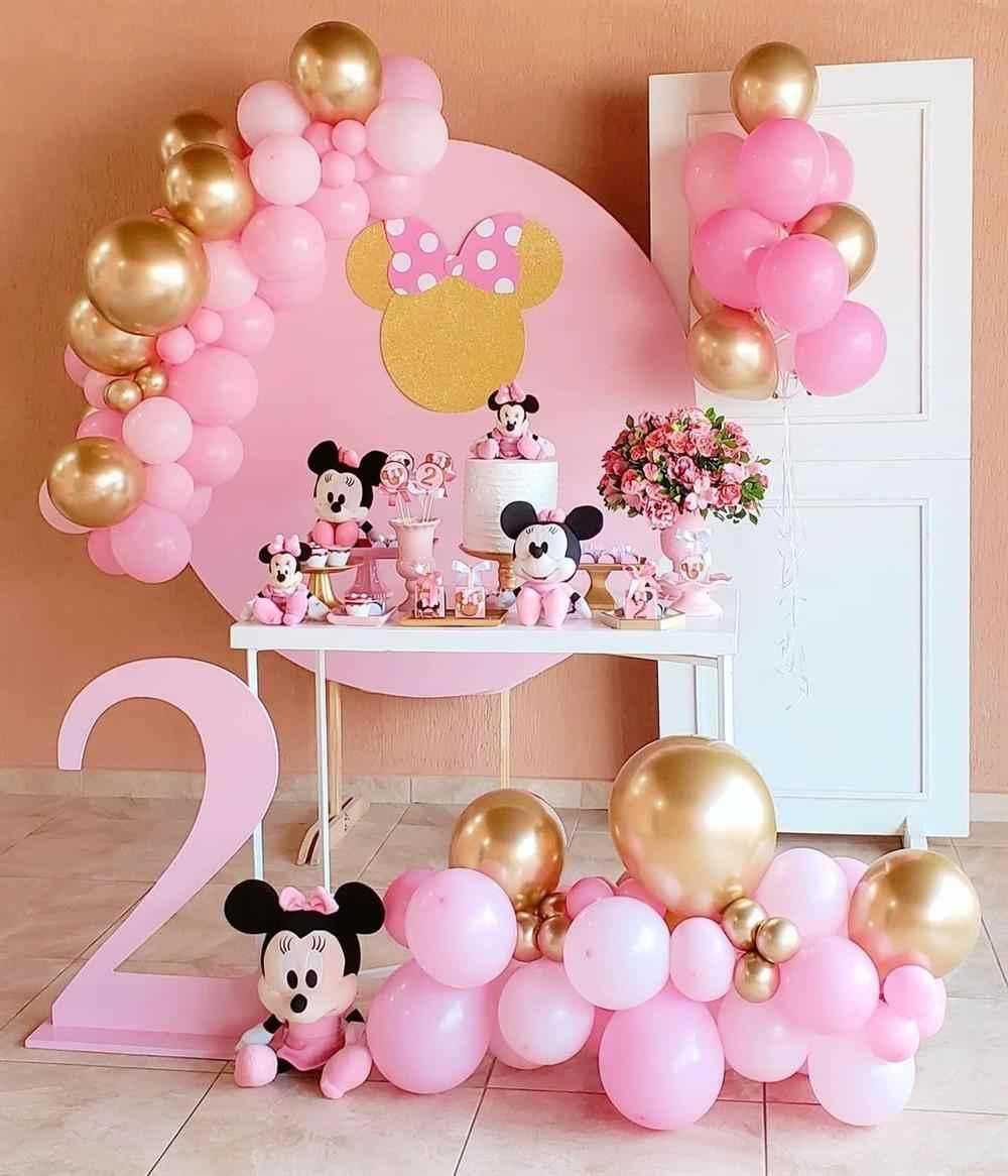tema de aniversário da minnie rosa