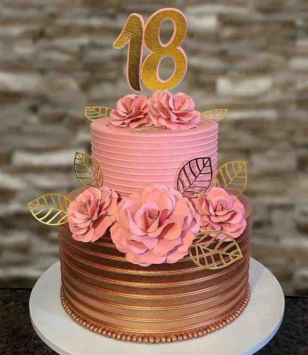 bolo de dois andares