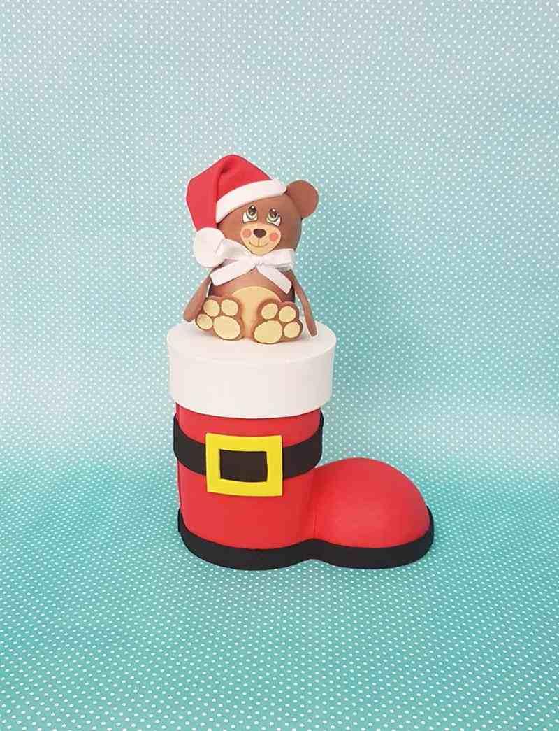 Bota do Papai Noel de eva