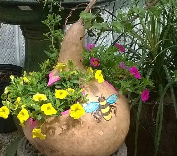 Cabaça com flores
