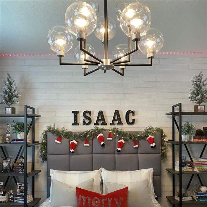 cabeceira decorada para natal
