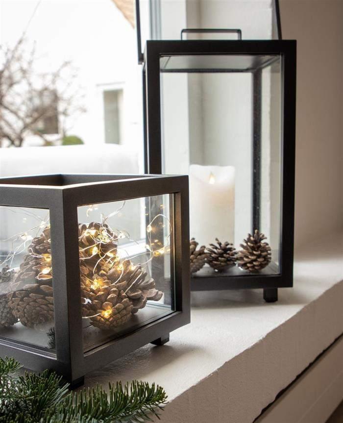 caixas de vidro decoradas para natal