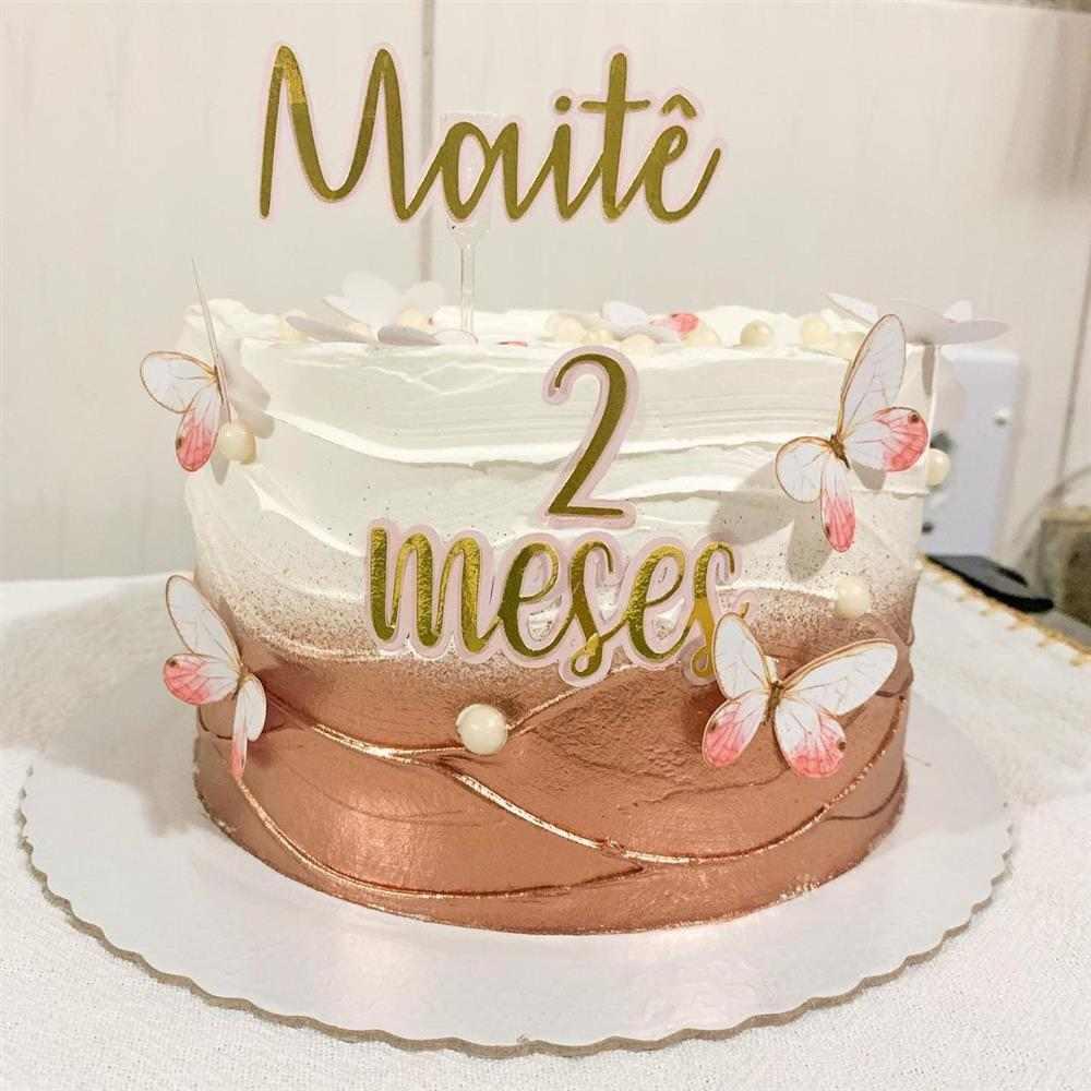 Decoração de bolo de mesversário