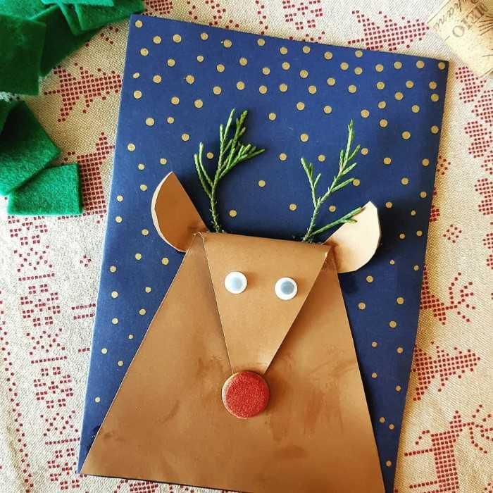 cartão de natal artesanal