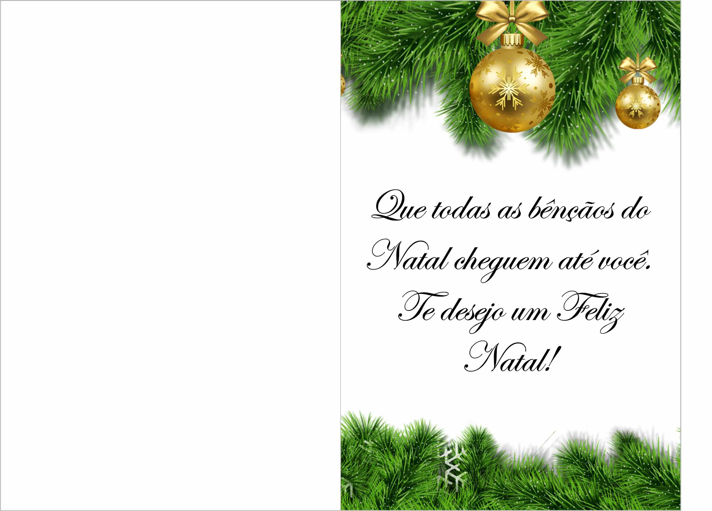 cartao de natal com mensagem