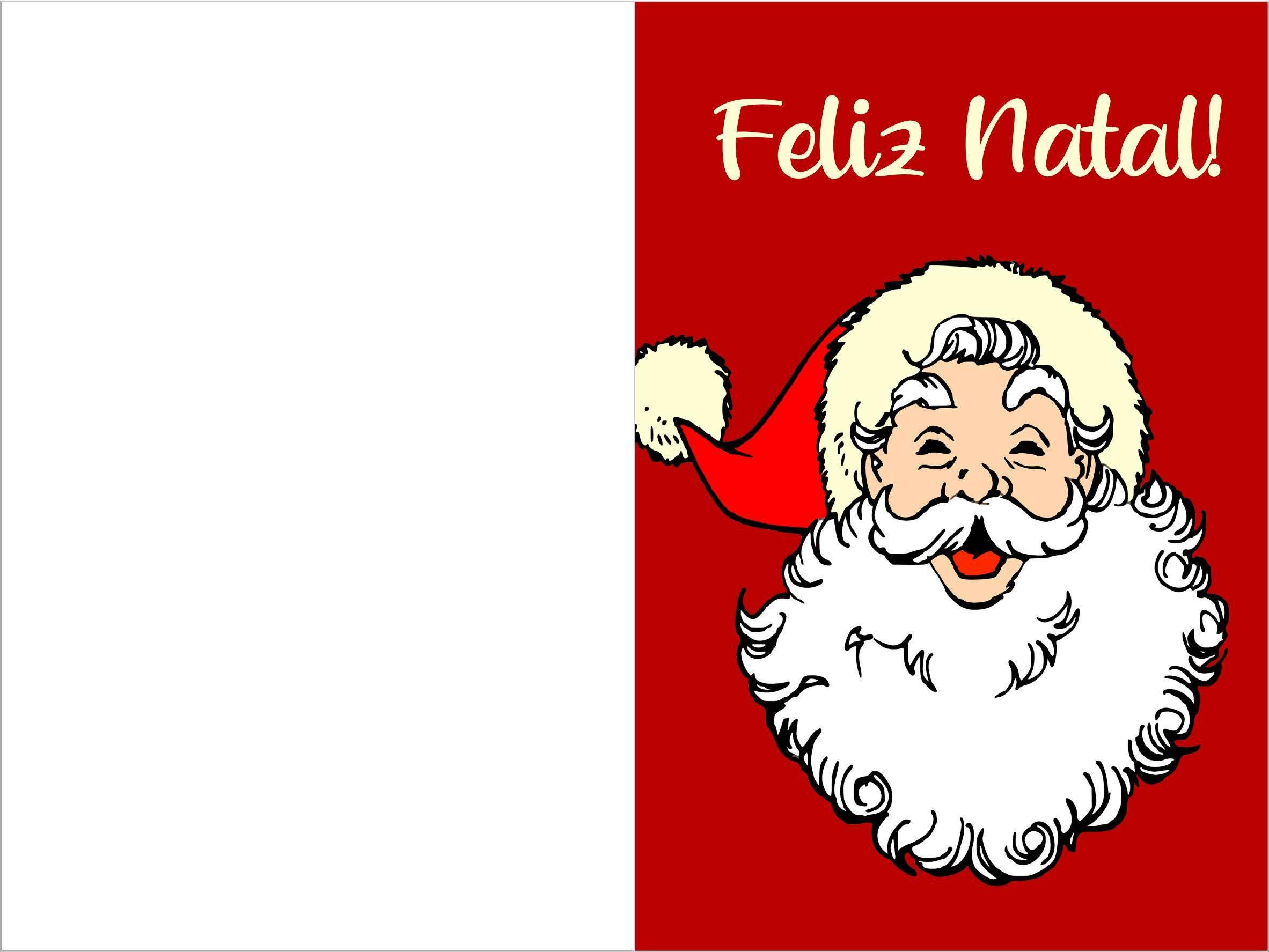 cartão de Natal em branco