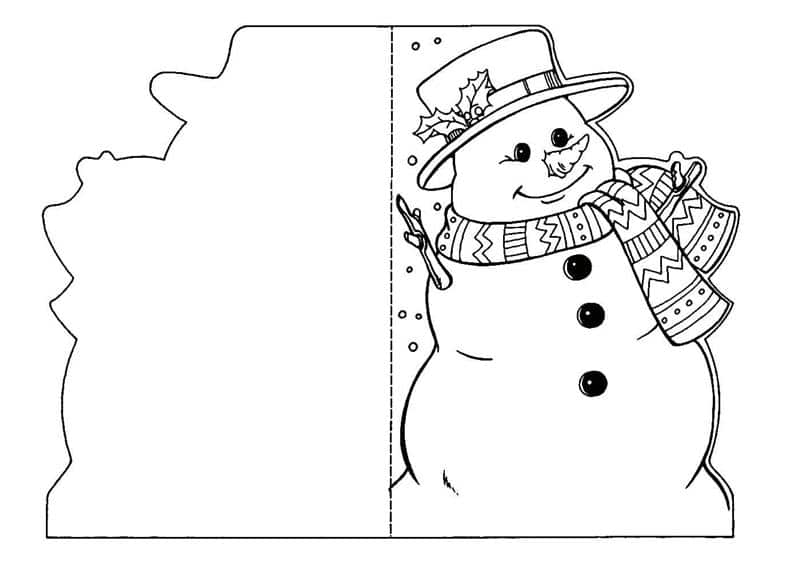 cartão de natal criativo para colorir
