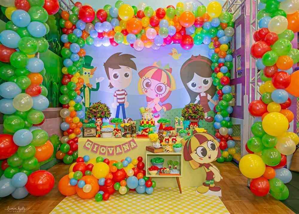 decoração de festa infantil emilia