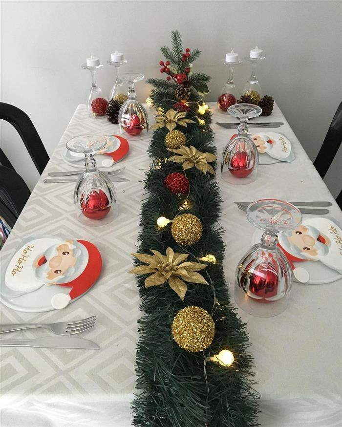 centro de mesa deita com festão