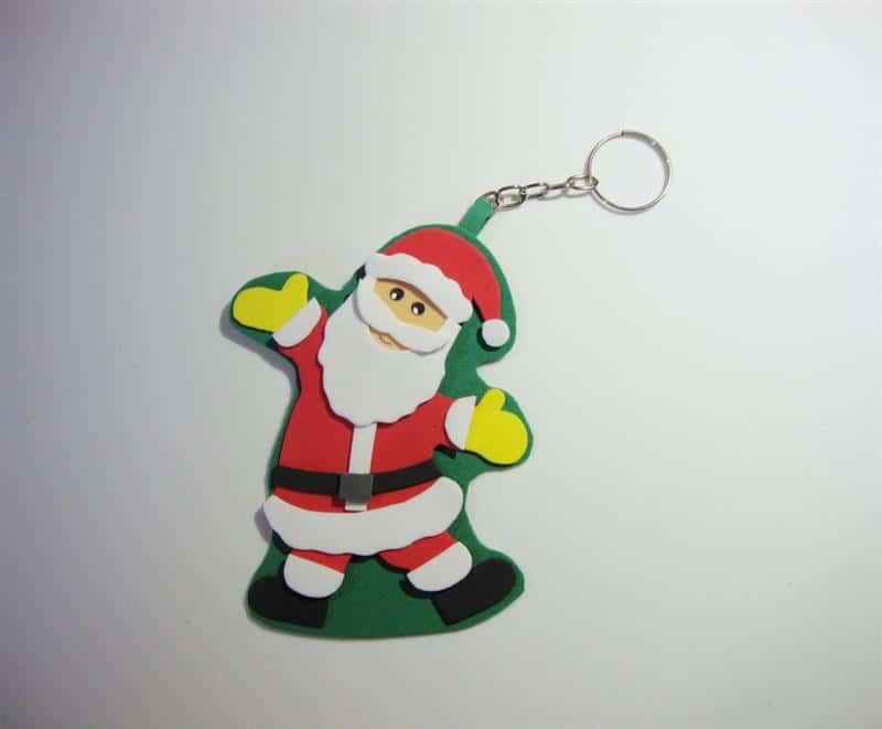 Chaveiro de Natal em EVA