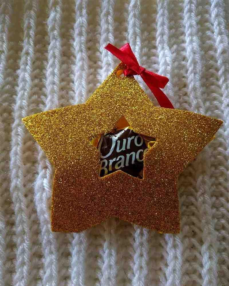 Porta bombom natalino estrela