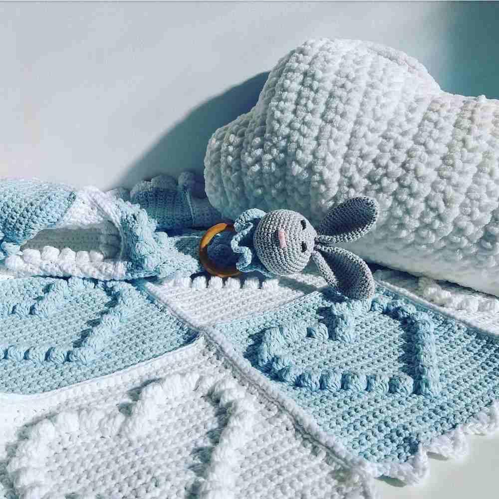 manta de crochê para bebê fácil