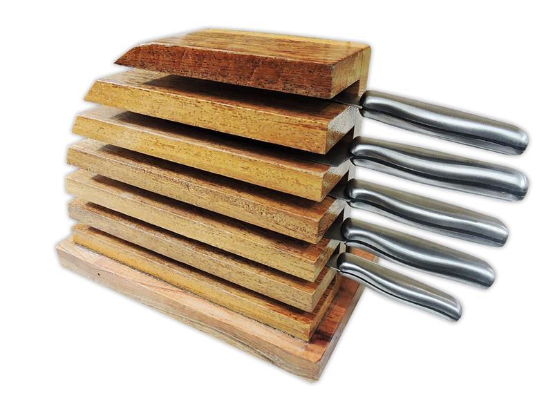 Porta faca com tábua de churrasco