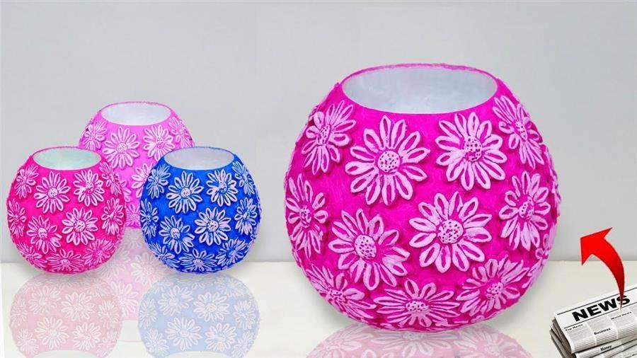 vaso artesanal de bexiga
