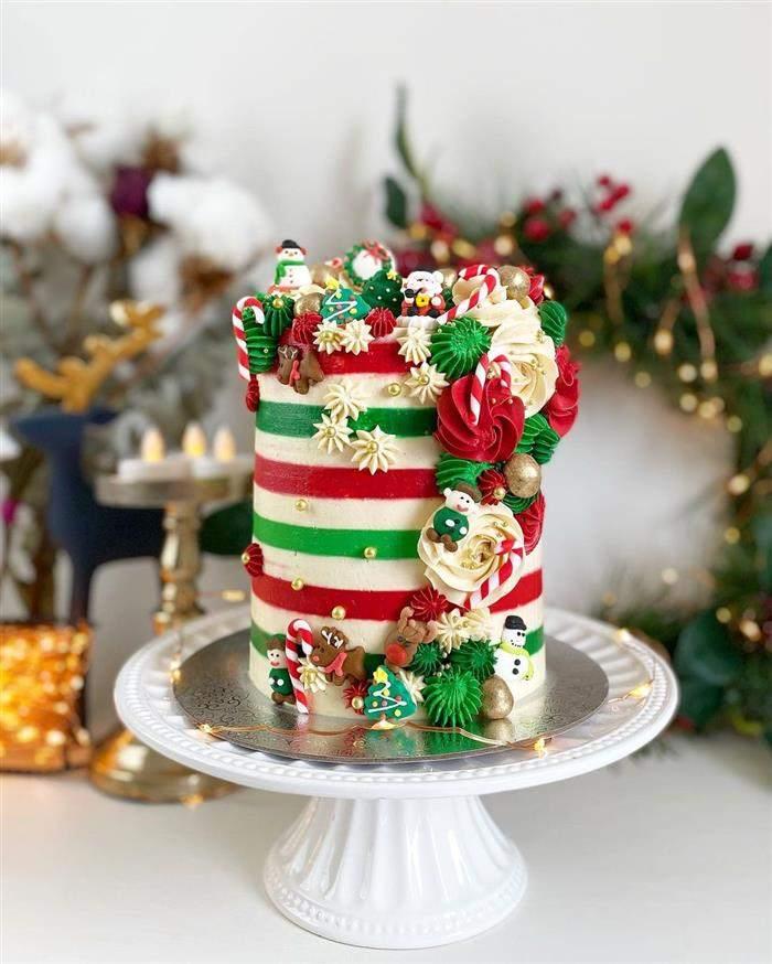 decoração bolo natalino