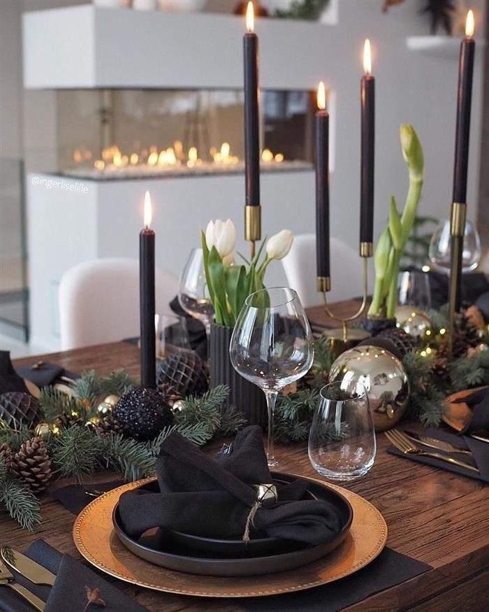 decoração natal com preto