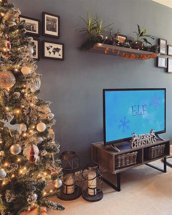 decoração natal para sala com tv