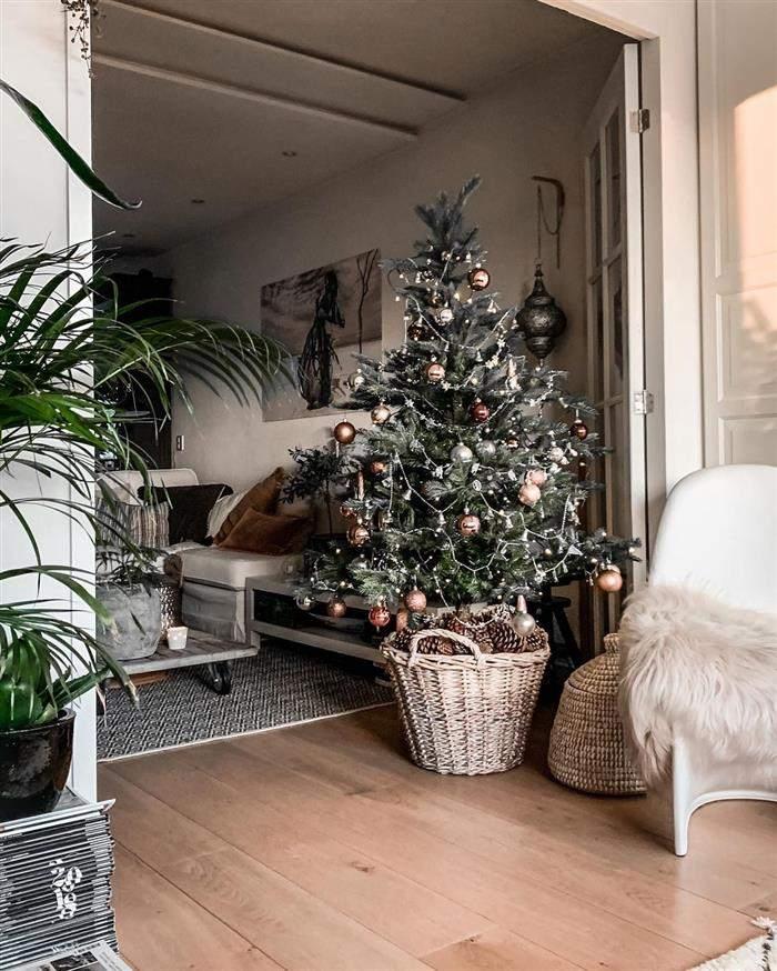 decoração natalina árvores