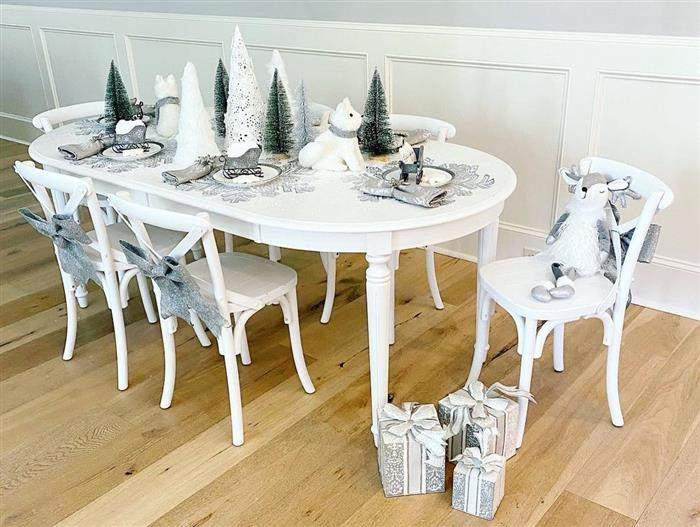 decoração natalina branca