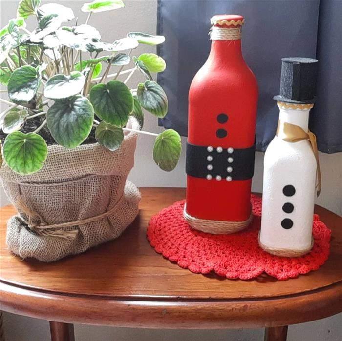 decoração natalina com material reciclado