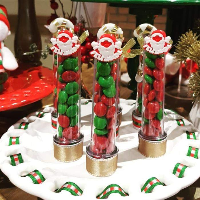 decoração natalina com tubetes