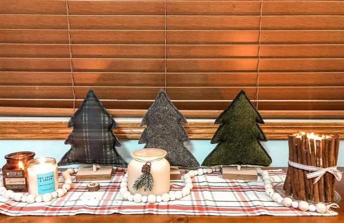 decoração natalina de feltro