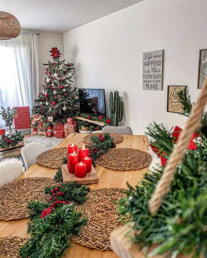 decoração natalina de mesa