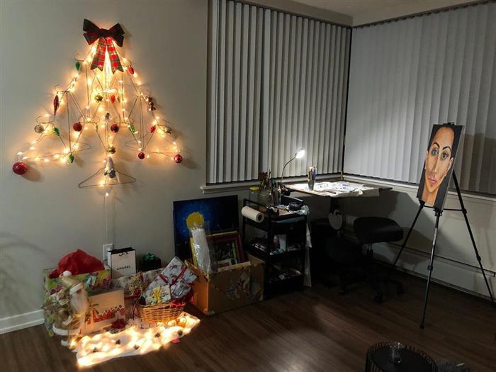 decoração natalina escritorio