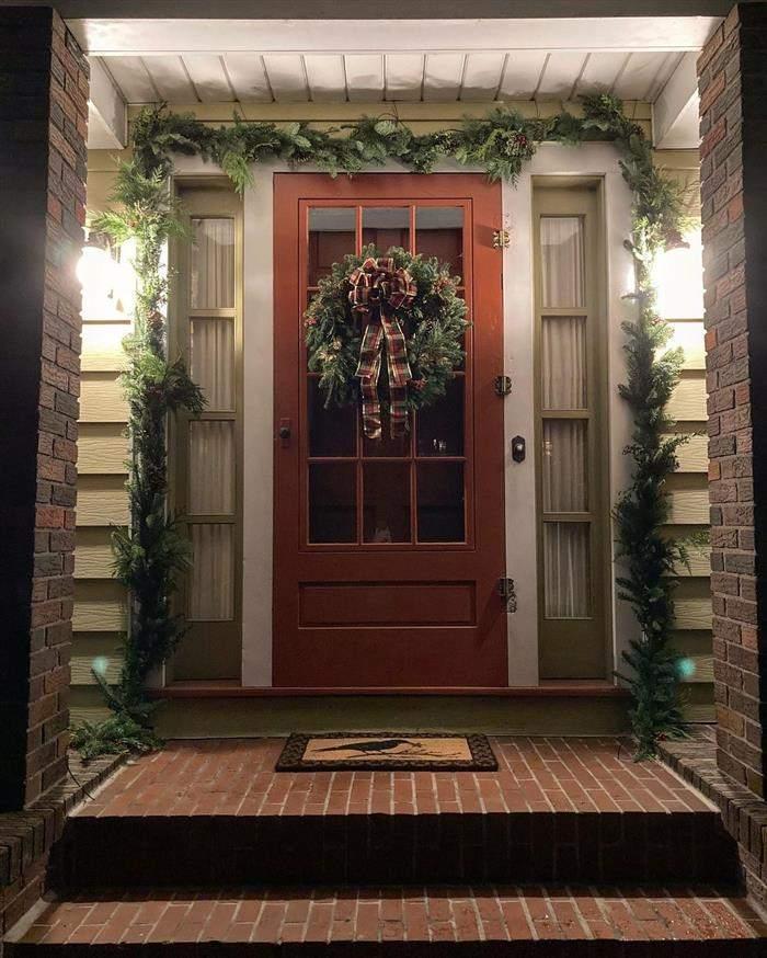 decoração natalina para porta