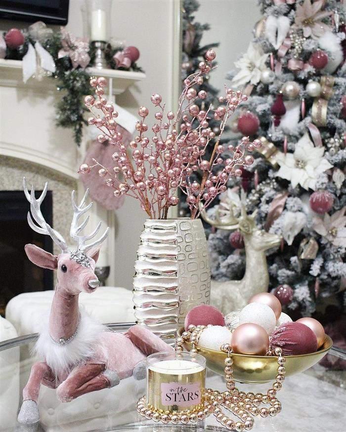 decoração rosa de natal