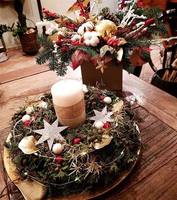 dentro de mesa de natal