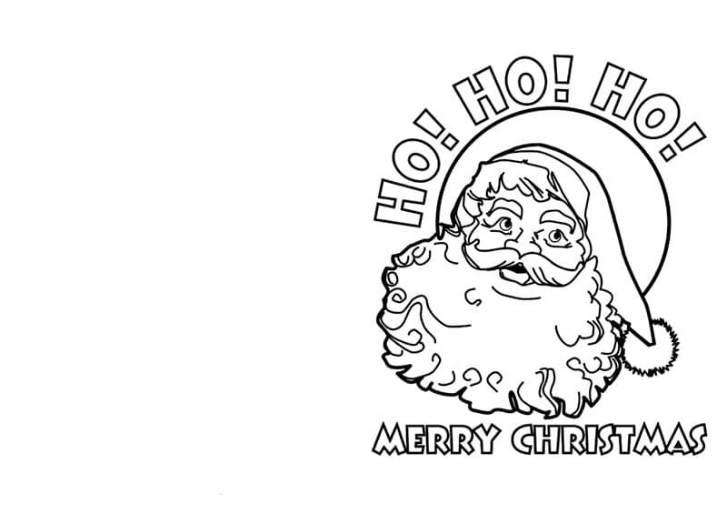 cartão de natal para colorir e imprimir em ingles