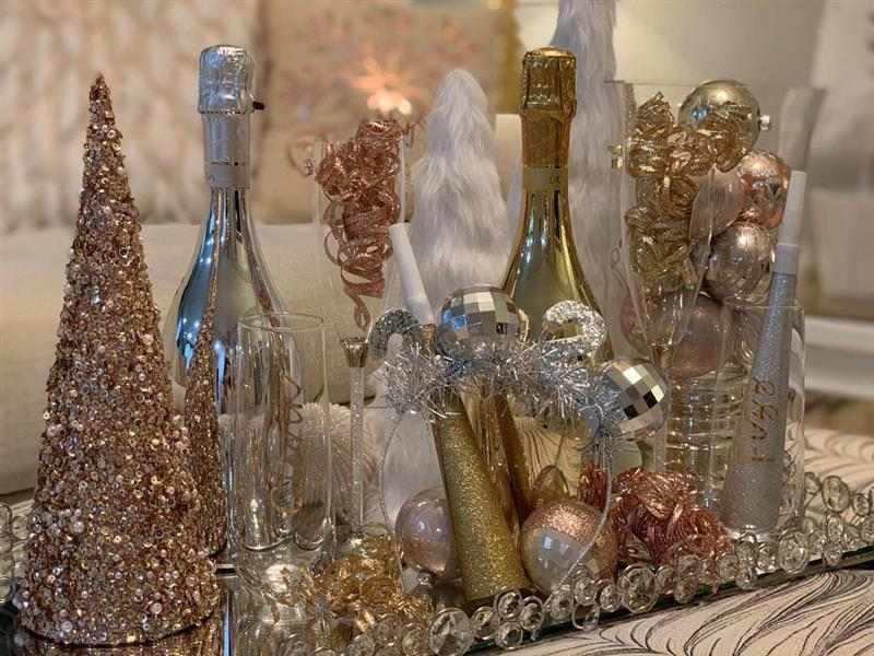 mesa de centro decorada