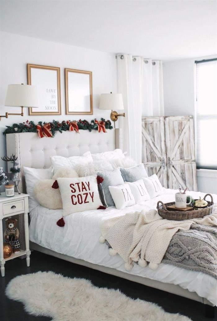 enfeite de cama com festão
