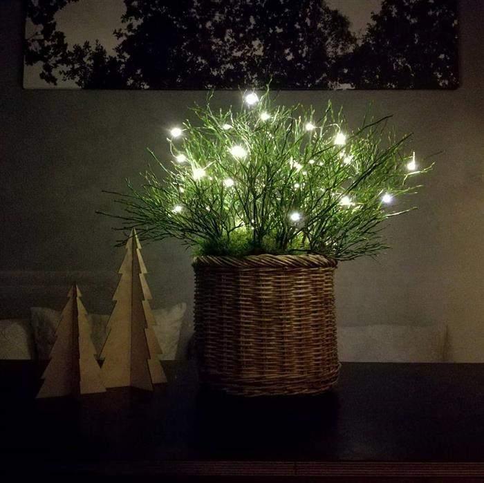 enfeite de natal com luzes