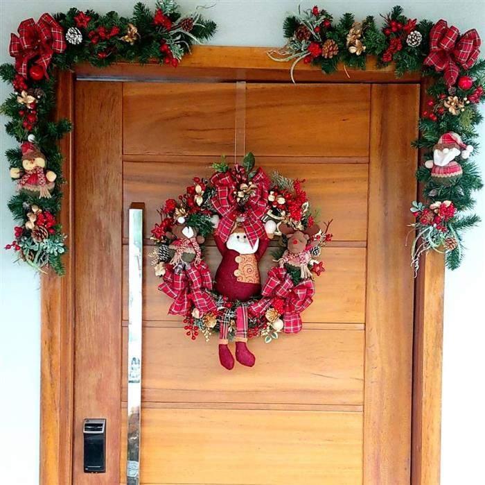 enfeite de porta para natal