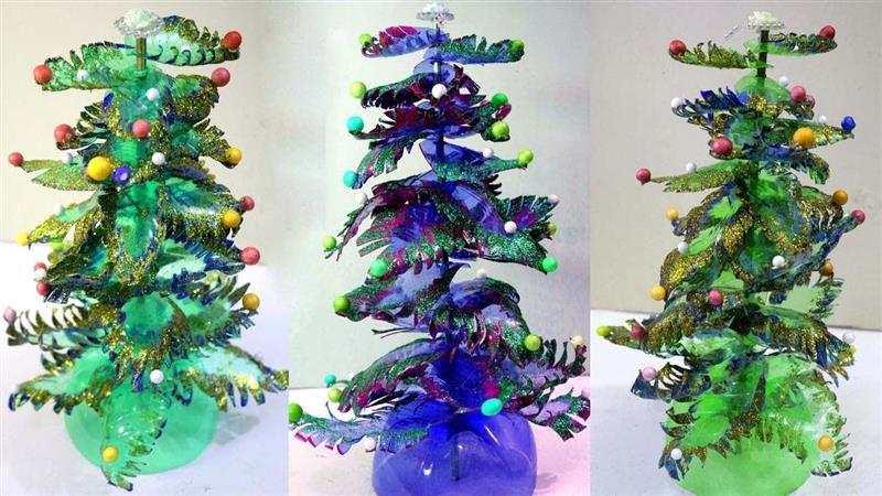 árvore de Natal reciclada
