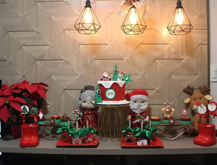 enfeites e decoração natalinas