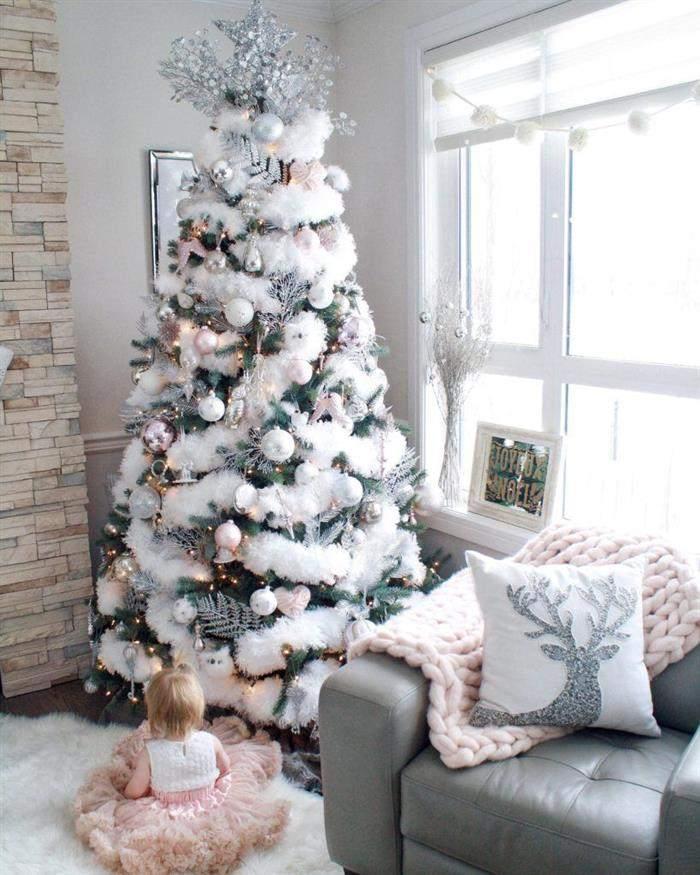 festão de natal branco