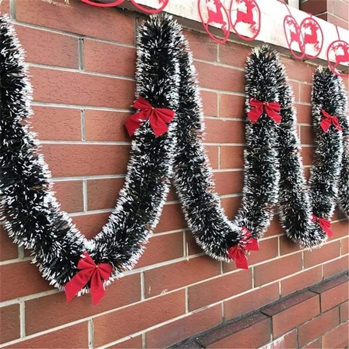 festão de natal com neve