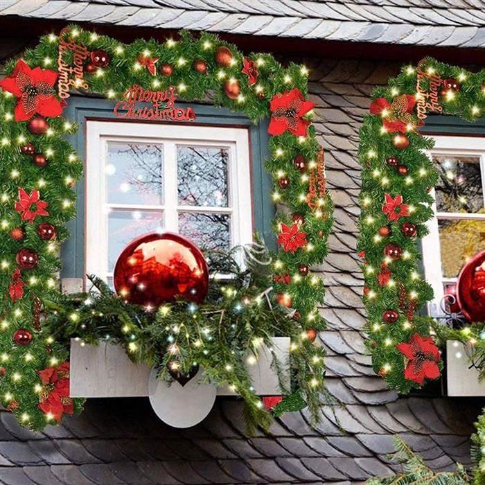 festão de natal na janela