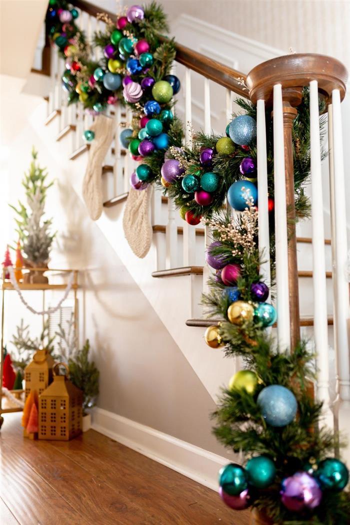 festao de natal para escada