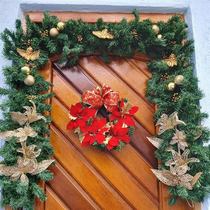 festão de natal para porta