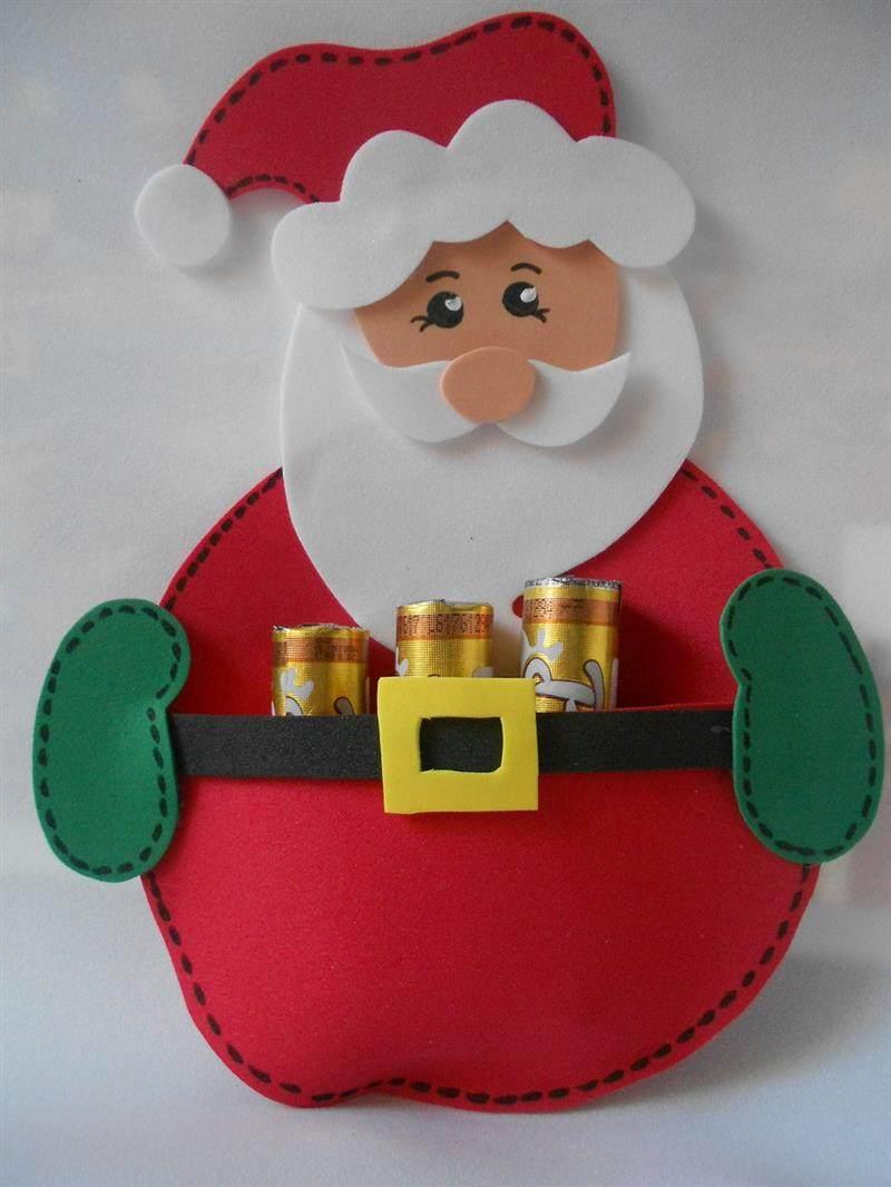Papai Noel porta chocolate